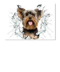 3d Yorkie Jumping Car Stickers Products From Dog Lovers Store Teespring