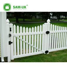 White Picket Fence With Electric Gate Kit From China Manufacturer Sam Uk