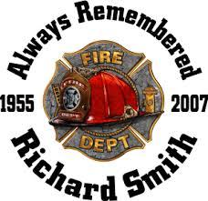Fire Rescue Helmet Custom Memorial Die Cut Vinyl Car Decal Full Color Printed Stickers In Loving Memory Car Window Decals