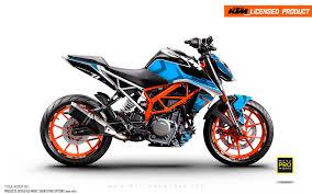 Ktm 125 200 250 390 Duke Graphic Kit Rasorblade Blue Motoproworks Decals And Bike Graphic Kit