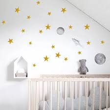 Creative Gold Stars Wall Decals Bedroom Nursery Baby Room Home Decor Little Stars Wall Stickers Diy Wallpaper Vinyl Mural Art Wall Stickers Aliexpress
