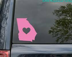 Georgia Heart State Vinyl Decal Sticker 6 X 5 Love Ga Minglewood Trading