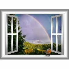 East Urban Home Bird Window Decal Robin Decor Rainbow Wall Sticker Peel And Stick Mural 18 H X 22 W Reviews Wayfair