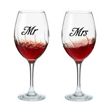 Wedding Cups Decoration Mr Mrs Wine Glass Sticker Cute Small Poster Mural Vinyl Wall Decals Engagement Party Present Love Xl11 Wall Stickers Aliexpress