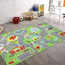 Amazon Com 79 X40 Kids Rug Play Mat For Toy Cars Safe Colorful And Fun Play Rugs With Roads For Bedroom And Kid Rooms Car Rug To Have Hours Of Fun On Area Rug Mat