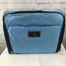 case make up bag lori greiner qvc blue