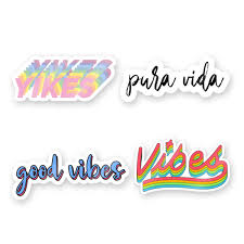 Colorful Words Sticker Pack The Decal Bros