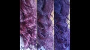 Violet Hair Color لون شعري الجديد بنفسجي محمر Youtube