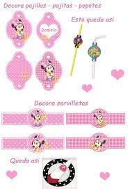 Kit Imprimible Minnie Mouse Bebe Tarjetas Cajitas Y Mas Minnie