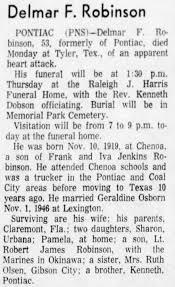 Obituary for Delmar F. Robinson (Aged 53) - Newspapers.com