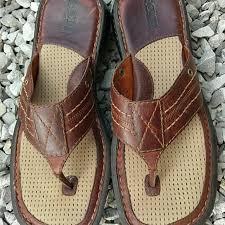 mens 12 sandal brown leather flip flop