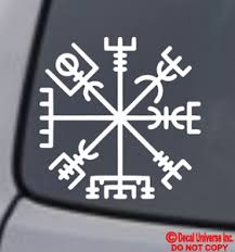 Vigviser Viking Compass Vinyl Decal Sticker Car Window Wall Bumper Norse Symbol Ebay