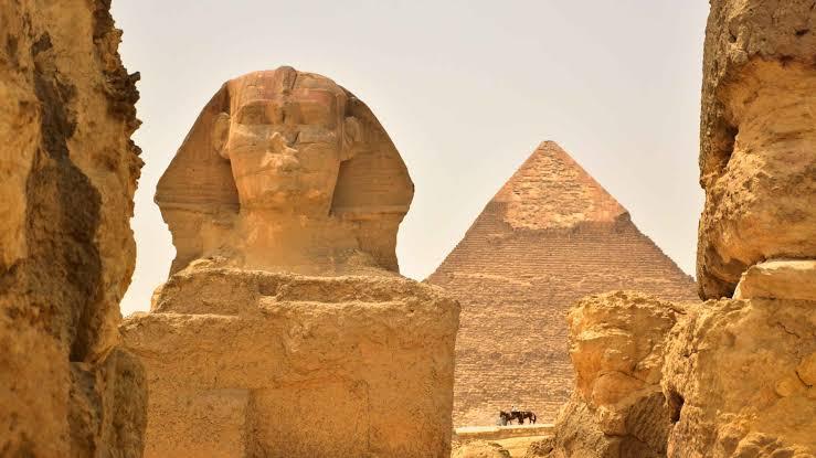 vista de la Gran Pirámide de Giza