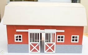 schleich big red barn toy with horse