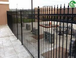 Cheap Black Powder Coated Used Wrought Iron Fence Panels For Sale For Sale Tubular Steel Fence Manufacturer From China 108203029