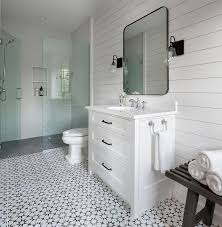 black and white mosaic bath floor tiles