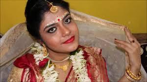 bengali bridal makeup tutorial self
