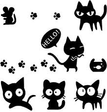 Amazon Com 1797 Vehicle Stickers Car Decals Accessories Decorations Cute Cat Claw Mouse Rat Fish Tank Pvc Funny Animal Door Bumper Laptop Windows Windshield Trunk Tailgate Pc Waterproof Cool Black Pack Of 7