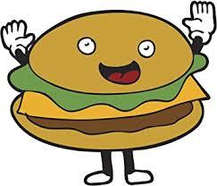 Amazon Com Happy Fast Food Emoji Vinyl Decal Sticker 4 Wide Hamburger Automotive