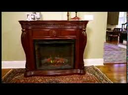 electric fireplace in empire cherry