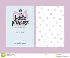 Mi Pequena Princesa Invitaciones De La Muchacha De La Fiesta De