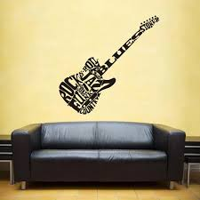 Music Zone Guitar Wall Sticker Headset Rock Decor Kids Room Home Decoration Posters Vinyl Music Car Decal Wall Stickers Aliexpress