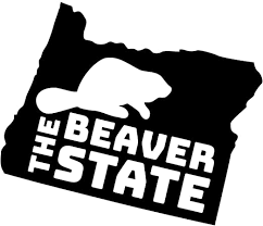 Amazon Com Jb Print Oregon The Beaver State Vinyl Decal Sticker Car Waterproof Car Decal Bumper Sticker 5 Kitchen Dining