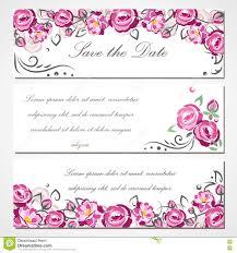 Vector La Tarjeta De La Invitacion Con Las Rosas Rosadas Para