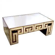 greek key mirrored coffee table