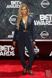 Laverne Cox at the 2015 BET Awards in Dmitry Sholokhov and Michael Costello  | Tom + Lorenzo