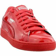 shine mens red patent leather lace up