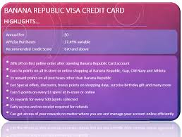 banana republic credit card credit