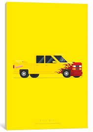 East Urban Home Famous Cars Series Kill Bill Graphic Art Print On Canvas Wayfair