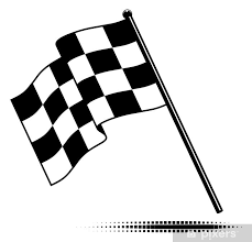 Vector Checkered Flag Waving Below The Pole No Gradients Wall Mural Pixers We Live To Change