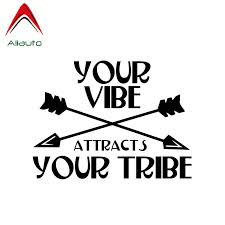 Aliauto Personality Creative Car Sticker Arrow Your Vibe Attracts Your Tribe Vinyl Waterproof Decal Black Silver 13cm 10cm Car Stickers Aliexpress