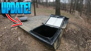 homemade underground fort bunker