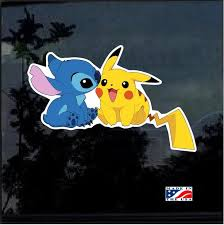 Stitch And Pikachu Full Color Decal Sticker Custom Sticker Shop