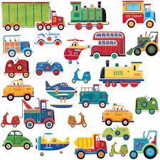 Cars Trucks 26 Wall Stickers Decor Vehicle Decals Kids Room Decor Nursery Planes Tractor Walmart Com Walmart Com