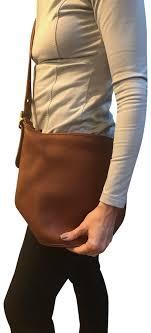 vintage brown leather cross bag