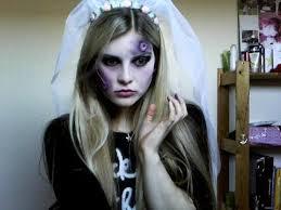 halloween zombie bride make up