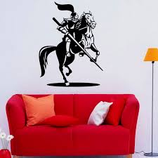 Design Bedroom Decorative Knight Wall Decals Horseman Medieval Vinyl Art Wall Stickers Home Decor Adhesive Sticker M538 Art Wall Sticker Designer Wall Stickerswall Sticker Aliexpress