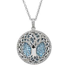 shanore sterling aquamarine tree of