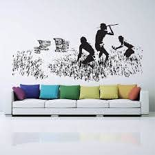 Banksy Hunters Shopping Carts Vinyl Wall Art Decal