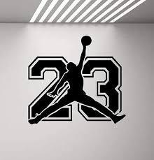 Amazon Com Carolgreydecals Michael Jordan Sign Wall Decal Sport 23 Air Jordan Jumpman Decal Basketball Poster Stencil Gym Wall Vinyl Sticker Kids Teen Boy Room Nursery Bedroom Wall Art Decor Mural 847 Home