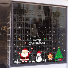 Christmas Decoration Pvc Window Clings Decals Stickers Wall Ornaments Home Office New Year Christmas Party Supplies E Walmart Com Walmart Com