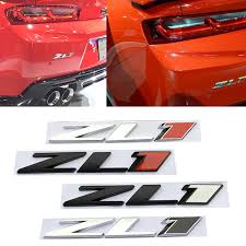 1x Metal 3d Zl1 Emblem Badge Car Styling Side Fender Decal Sticker Fit Chevrolet Ushirika Coop