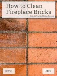 how to clean fireplace bricks brick