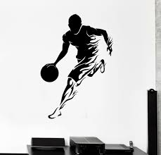 Wall Decal Basketball Player Sports Game Fire Vinyl Sticker Ed1746 For Sale Online
