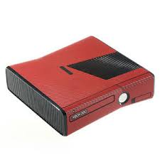 Textured Red Carbon Fibre Effect Xbox 360 Slim Decal Skin Sticker Cover Wrap Ebay