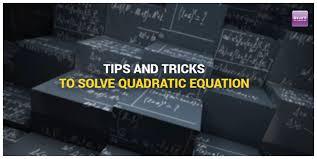 solve quadratic equations in bank exams